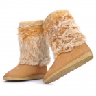 Women's Warm Snow Boots Shoes - Light Brown (EUR Size-37)