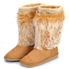 Women's Warm Snow Boots Shoes - Light Brown (EUR Size-38)