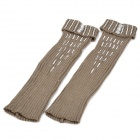 Charming Knitting Wool Pantyhose with Rhinestone - Khaki