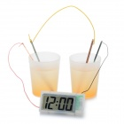 "Amazing Green Science 1.8"" LCD Potato Clock - White + Red + Silver"