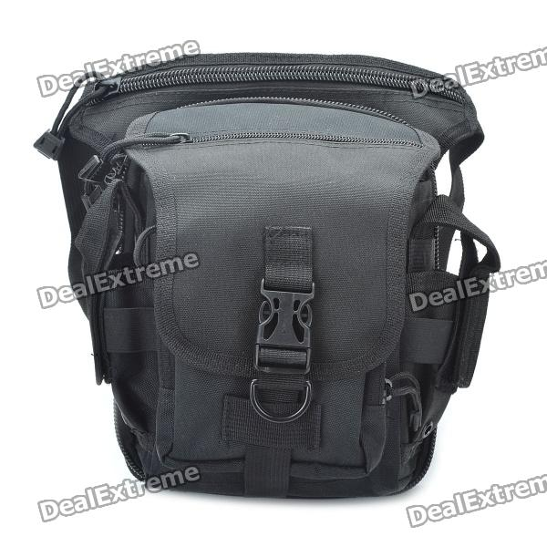 Military Tactical War Game Saco de perna multiuso / bolsa de ombro - preto