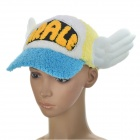 Dr.Slump Arale Chan Cap Hat with Angel Wings for Children (Blue + White + Yellow)