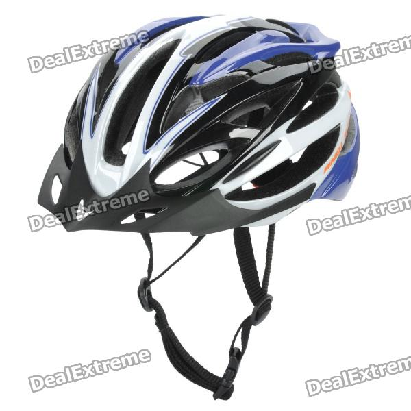 Cool Sports Cycling Helmet - Blue + Black + White