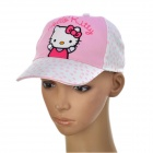 Cute Hello Kitty Pattern Cotton Cloth Cap Hat for Children - Light Pink + White