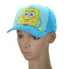 Cute Spongebob Pattern Cotton Cloth Cap Hat for Children - Blue + Yellow