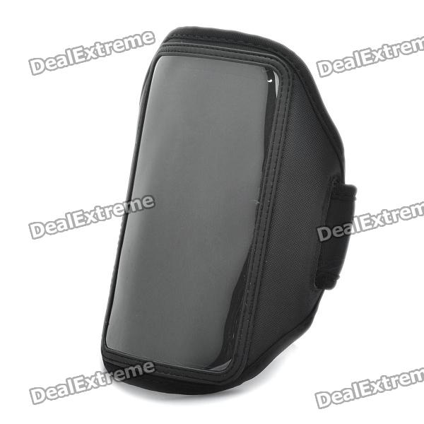 Sporty Armband with Velcro for Samsung Galaxy Note / i9220 / GT-N7000 - Black mhl docking station for samsung galaxy note i9220 black silver
