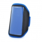 Sporty Armband with Velcro for Samsung Galaxy Note / i9220 / GT-N7000 - Blue