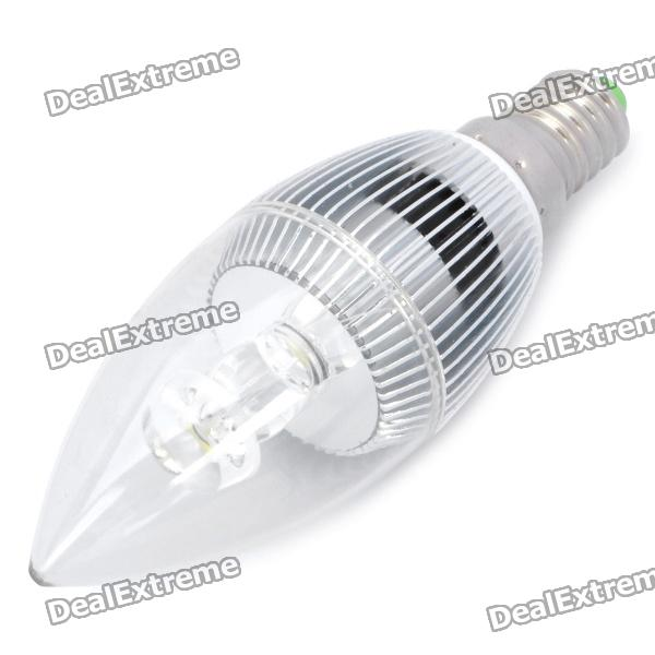 3W E14 6500K 120-Lumen LED-1-White Light Bulb (AC 85 ~ 240V)