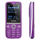 "E100 GSM TV Cell Phone w/ 2.0"" TFT LCD, Quadband, Dual SIM, FM and 3-LED Flashlight - Purple"