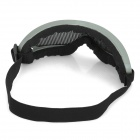 Outdoor Safety Eye Protection Metal Mesh Shield Goggle - Black + Deep green