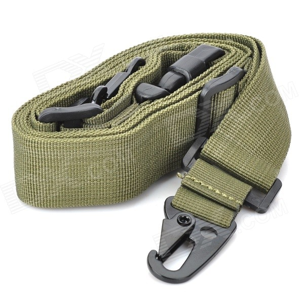 Tactical Military 3 Point Rifle Gun Sling Strap - Army Green (235cm)