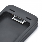 Solar / USB Powered 1250mAh External Battery Silicone Back Case for iPhone 4 / 4s - Black