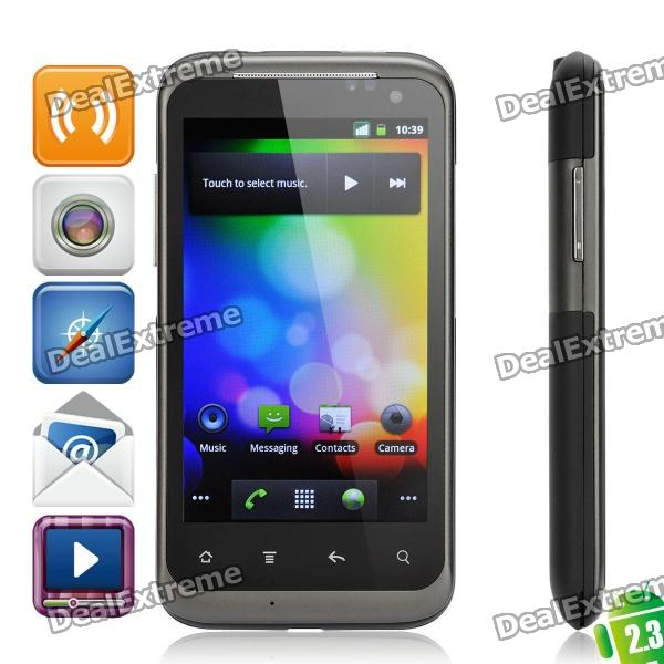 """W690 Android OS V2.3 WCDMA Smartphone w/ 4.0"""" Capacitive, Wi-Fi, Dual SIM and GPS - Dark Gray"""