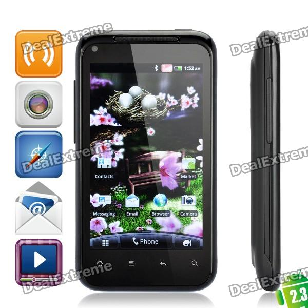"""G11 Android 2.3 WCDMA Smartphone w/ 4.0"""" TFT Capacitive, Wi-Fi, Dual SIM and GPS - Black"""