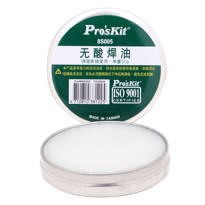 Genuine ProsKit Soldering Paste - Ivory (50g)Soldering Supplies<br>Form  ColorWhitePower AdapterWithout Power AdapterTemperature ControlNoPacking List<br>