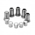Car Tire Valve Caps - Silver (5-Piece Pack)