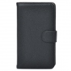 Protective PU Leather Flip-Open Case for Samsung Galaxy Note / N7000 / i9220 - Black