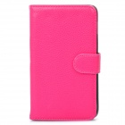 Protective PU Leather Flip-Open Case for Samsung Galaxy Note / N7000 / i9220 - Deep Pink