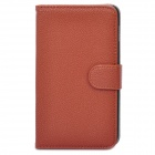 Protective PU Leather Flip-Open Case for Samsung Galaxy Note / N7000 / i9220 - Brown
