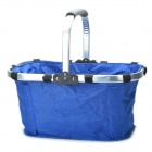 Folded Shopping Basket - Blue