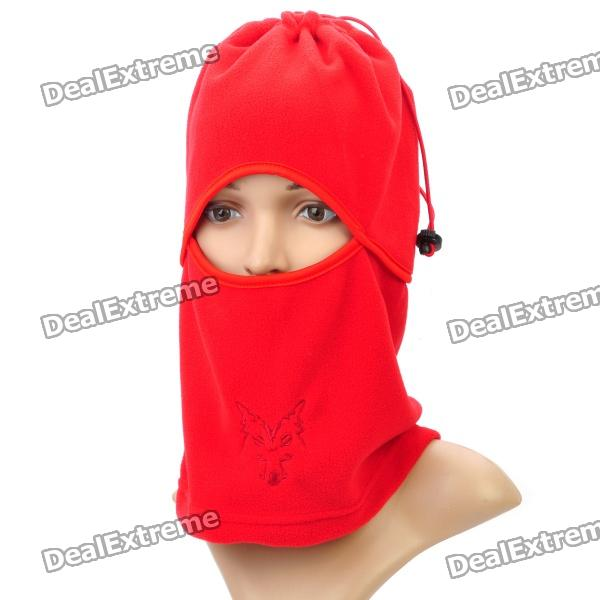 Outdoor Sports Cycling Fleece Fabric Mask - Red protective outdoor war game military skull half face shield mask black