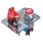 Car Toggle Switch with Red LED Indicator (DC 12V / Vehicle DIY)