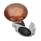 Bil Ratt Spinner Knob Ström Handtag Grip Ball - Silver + Brown