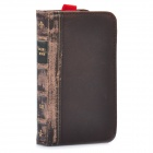 Retro Book Style Protective Cow Leather Wallet Case for iPhone 4 / 4s - Coffee
