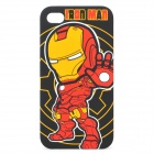 Protective PC Back Case w/ Canvas Pouch for iPhone 4 / 4s - Iron Man