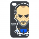 Protective PC Back Case w/ Canvas Pouch for iPhone 4 / 4s - Steve Jobs