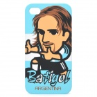Protective PC Back Case w/ Canvas Pouch for iPhone 4 / 4s - Gabriel Batistuta