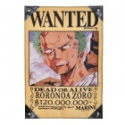 One Piece Roronoa Zoro &quot;Dead or Alive&quot; Wanted Flag