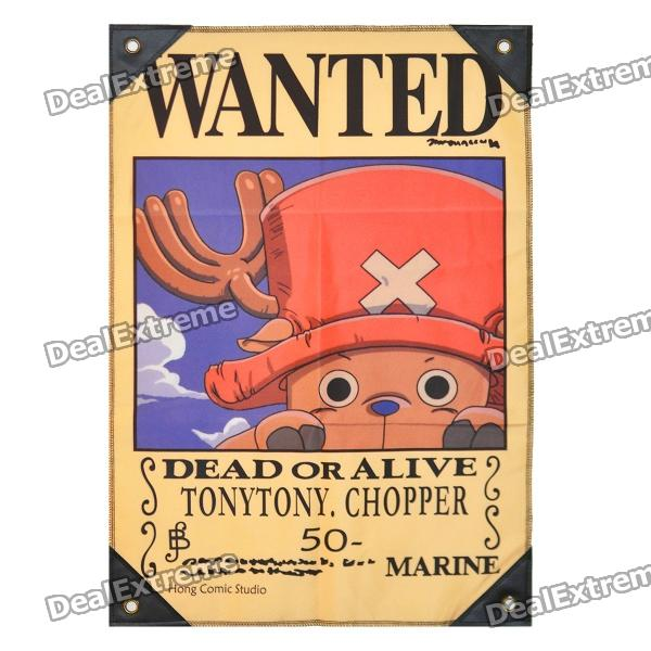 "One Piece Tony Tony Chopper ""Dead or Alive"" Wanted Flag"