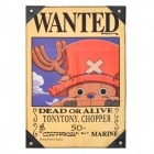 One Piece Tony Tony Chopper &quot;Dead or Alive&quot; Wanted Flag