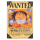 "One Piece Monkey D Luffy ""Dead or Alive"" Wanted Flag"