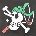 One Piece Usopp's Jolly Roger Pirate Flag - White + Green + Black