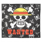 One Piece Monkey D Luffy Skulls Wanted Flag