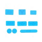 Protective Keyboard Cover w/ Anti-Dust Plugs Kit for Apple MacBook Air / Pro - Light Blue