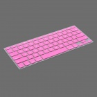 Protective Keyboard Cover w/ Anti-Dust Plugs Kit for Apple MacBook Air / Pro - Pink