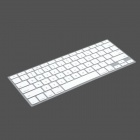 Protective Keyboard Cover w/ Anti-Dust Plugs Kit for Apple MacBook Air / Pro - White