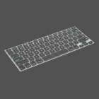 Protective Keyboard Cover w/ Anti-Dust Plugs Kit for Apple MacBook Air / Pro - Black