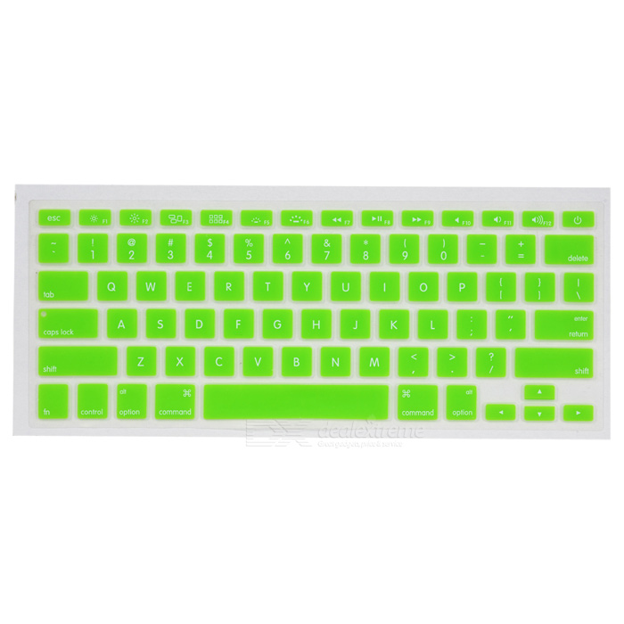Tampa protetora do teclado w / anti-poeira Plugs Kit para Apple MacBook Air / Pro - Verde