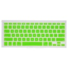 Protective Keyboard Cover w/ Anti-Dust Plugs Kit for Apple MacBook Air / Pro - Green