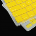 Protector de teclado Cover w / Anti-Dust Kit Tapones para Apple MacBook Air / Pro - Amarillo