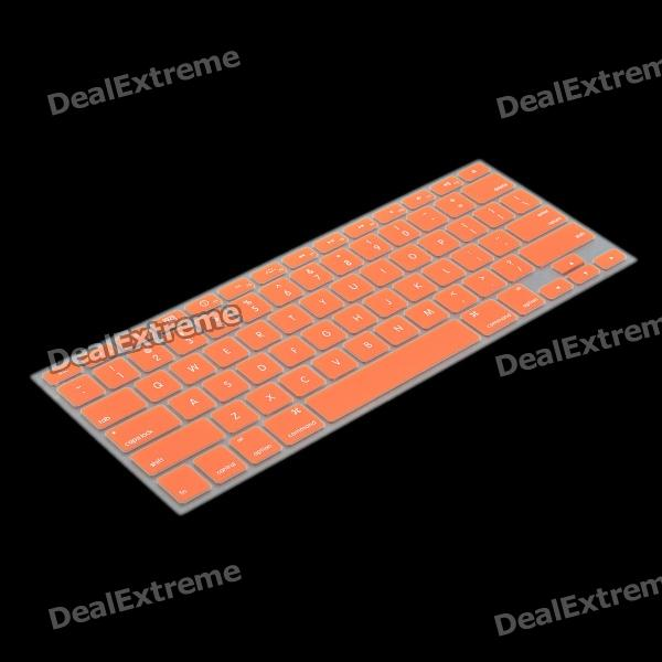 Protective Keyboard Cover w/ Anti-Dust Plugs Kit for Apple MacBook Air / Pro - Orange