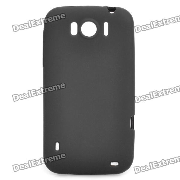 Protective Soft PVC Back Case for HTC Sensation XL X315e G21 - Black