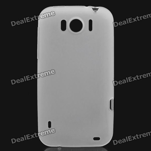 Protective Soft PVC Back Case for HTC Sensation XL X315e G21 - White