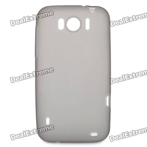 Protective Soft PVC Back Case for HTC Sensation XL X315e G21 - Grey