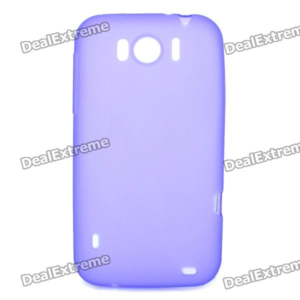 Protective Soft PVC Back Case for HTC Sensation XL X315e G21 - Purple