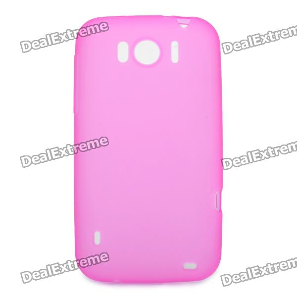 Protective Soft PVC Back Case for HTC Sensation XL X315e G21 - Deep Pink
